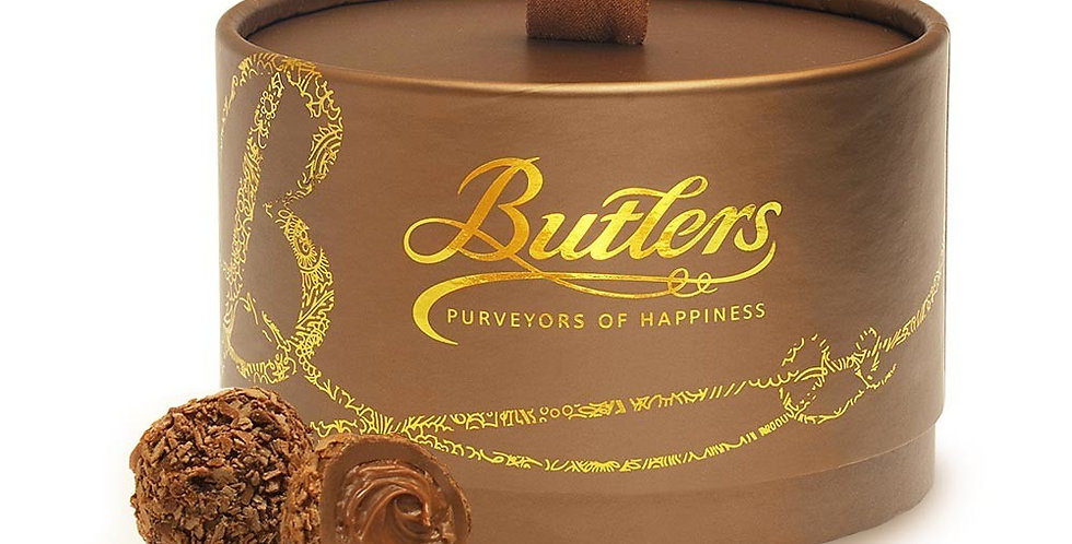 Butlers Milk Chocolate Flake Marc De Champagne Truffle Powder Puff 200g