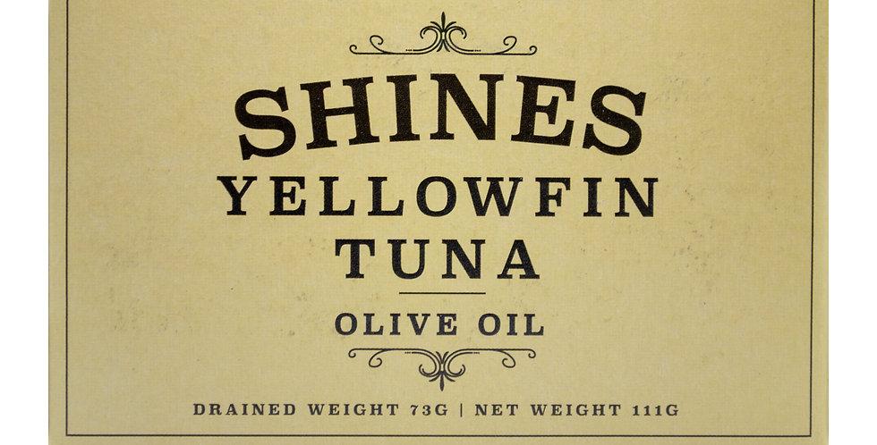Shines Yellowfin Tuna in Olive Oil Tin
