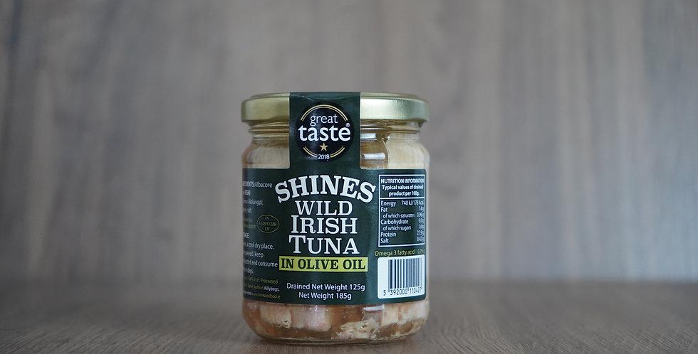 Shines Wild Irish Tuna in Olive Oil Jar