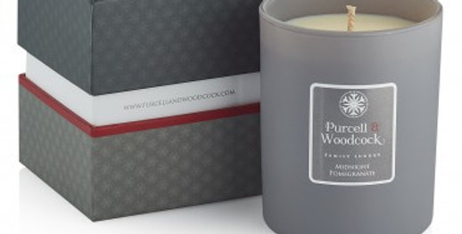 Purcell & Woodcock Scented Candle: Midnight Pomegranate