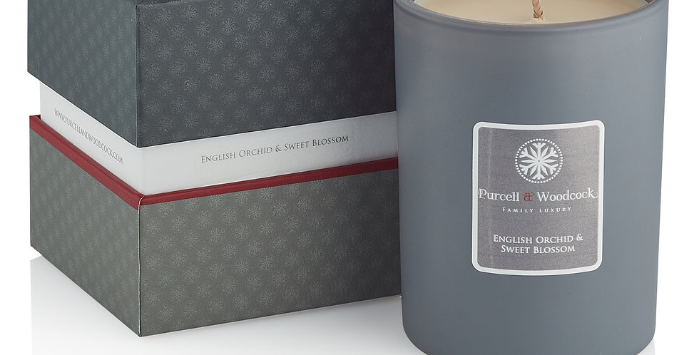 Purcell & Woodcock Scented Candle: English Orchid & Sweet Blossom