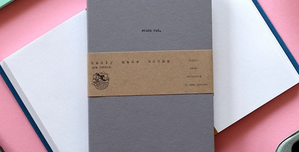 Badly Made Books 'Sound Out' A5 Lined Notebook
