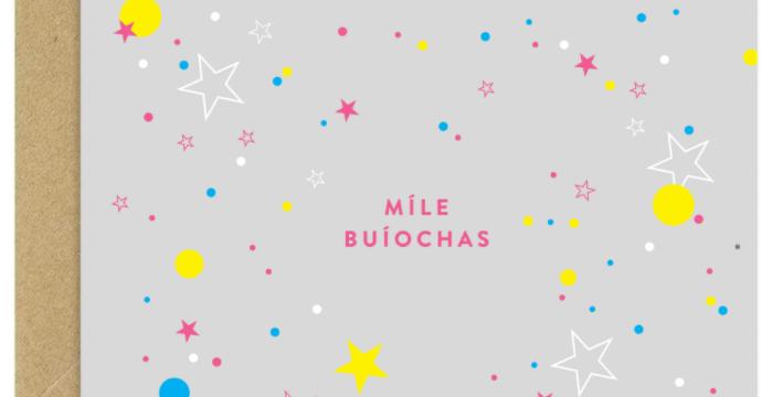 Míle Buíochas - 'A thousand thanks' Greeting Card