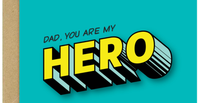 Dad You Are My Hero - Bold Bunny Greeting Card