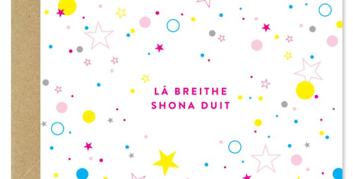 Lá Breithe Shona Duit - 'Happy Birthday' Greeting Card