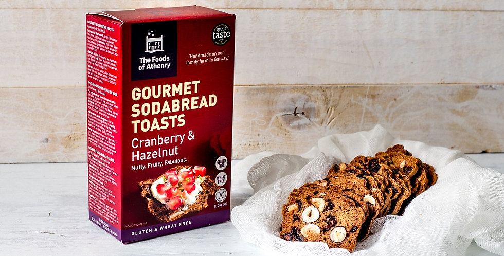 Foods of Athenry Cranberry & Hazlenut Toasts