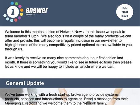 1 Answer Network - February Newsletter