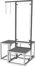 Exhibition stand metal frame