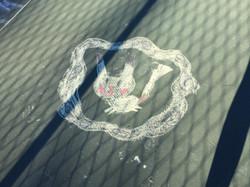 Side court chalk art