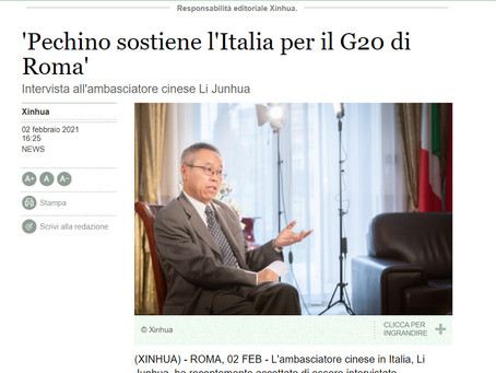 Xinhua News Agency interview with Ambassador Li Junhua