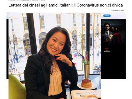 "January 31, 2020 Italian Media ""Il Tempo"" publishes our open letter to Italian Friends"