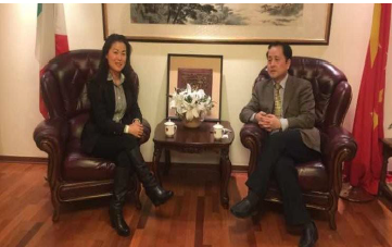 March 2, 2017: Ms. Lifang Dong had a meeting with the General Consul Mr. Wang Fuguo at the Chinese General Consulate in Florence