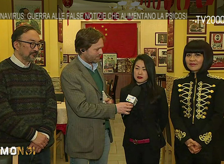 "Avv. Lifang Dong at Italian TV program ""Siamo Noi"" live broadcasted on TV2000"
