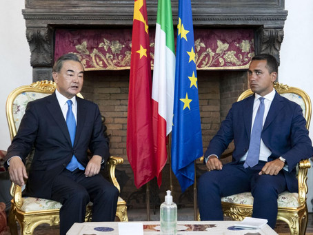 Chinese and Italian Foreign Affairs Ministers met last August 25, 2020 in Rome