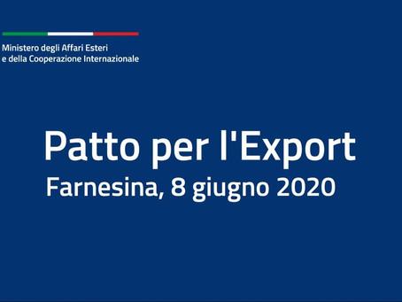 Patto per l'export e misure di sostegno all'internazionalizzazione