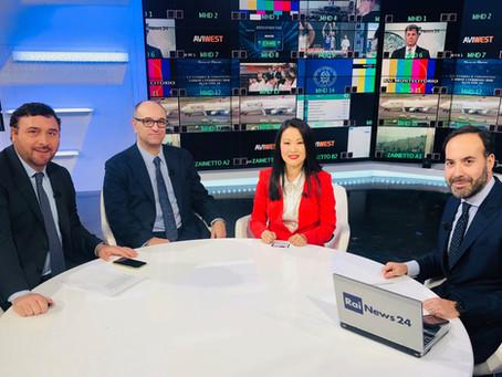 Avv. Lifang Dong talked about Coronavirus at Italia TV Channel RaiNews24