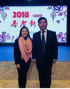 February 8, 2018: Ms. Lifang Dong met the Chinese General Consul in Milan Mr. Song Xuefeng, while celebrating the Chinese New Year in Milan.