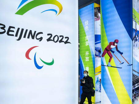 The Beijing 2022 Winter Olympics seen from Italy