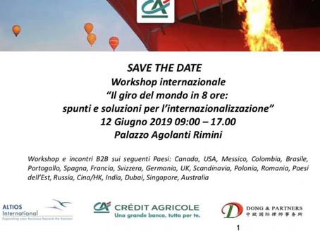 Workshop internazionale con Credit Agricole e Altios International: 12 Giugno 2019