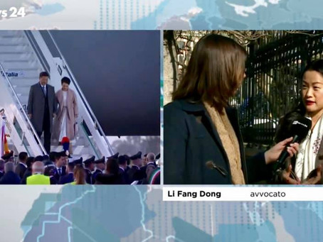 Lifang Dong interviewed by Rai-News24 for President Xi Jinping's visit in Italy on March 2019