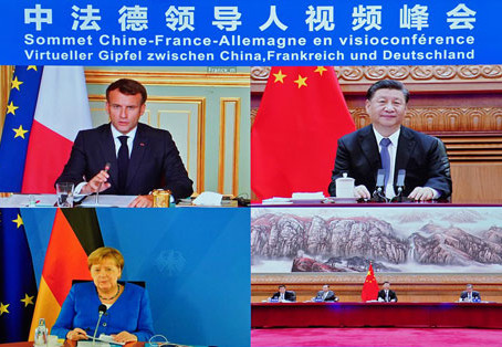 Chinese, French and German Leaders held virtual summit