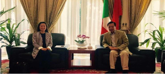 On April 13, 2017: at the Embassy of the People's Republic of China in Italy, Ms. Lifang Dong, Managing Partner of Dong & Partners, had a meeting with H.E. Mr. Li Ruiyu, Ambassador of the People's Republic of China in Italy.