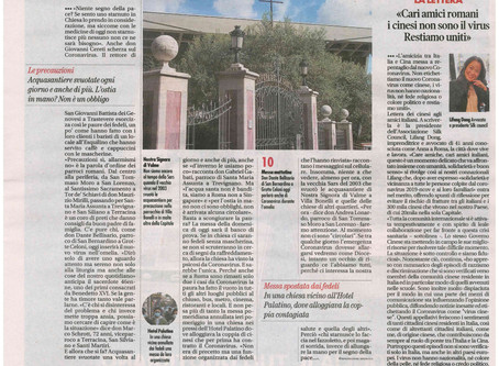 "On February 2, 2020 Italian Media ""Il Tempo"" published our open letter to Italian Friends"