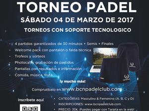 TORNEO 04 de MARZO DE 2017 BARCELONA PADEL CLUB