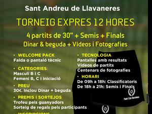 TORNEIG 12 HORES, 24 DE FEBRER  CLUB TENNIS MORA - LLAVANERES
