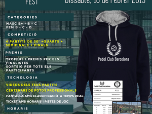 TORNEO EXPRESS 16 de FEBRERO 2019 - Sant Just Padel Club