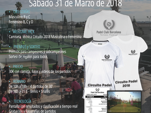 Torneo exprés Sábado                            31 de marzo 2018 - Vila Sport Padel Club