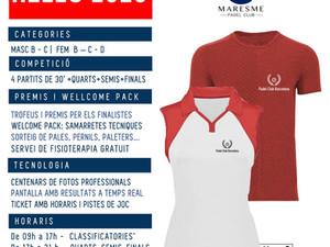 TORNEO WELLCOME 20'S -  8 de FEBRERO 2020 - Maresme Padel Club