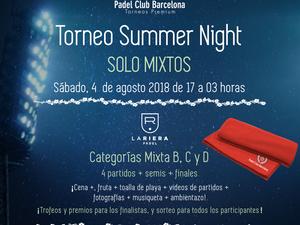 """TORNEO PADEL """"SUMMER NIGHT"""" - CATEGORÍAS MIXTAS"""