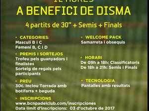 TORNEO BENEFICO 12 HORAS A FAVOR DE DISMA (Associació pro-disminuïts psíquics del Masnou), 07 DE OCT