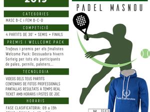 TORNEO -WELCOME 2019- 12 de Enero 2019 - Padel Ocata Masnou