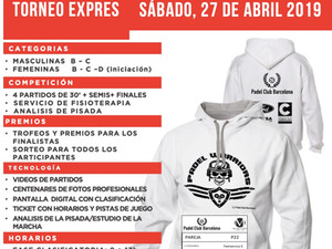 TORNEO EXPRESS 27 de ABRIL 2019 - Tennis Club Badalona