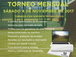 TORNEO MENSUAL 04 DE NOVIEMBRE - PADEL OCATA