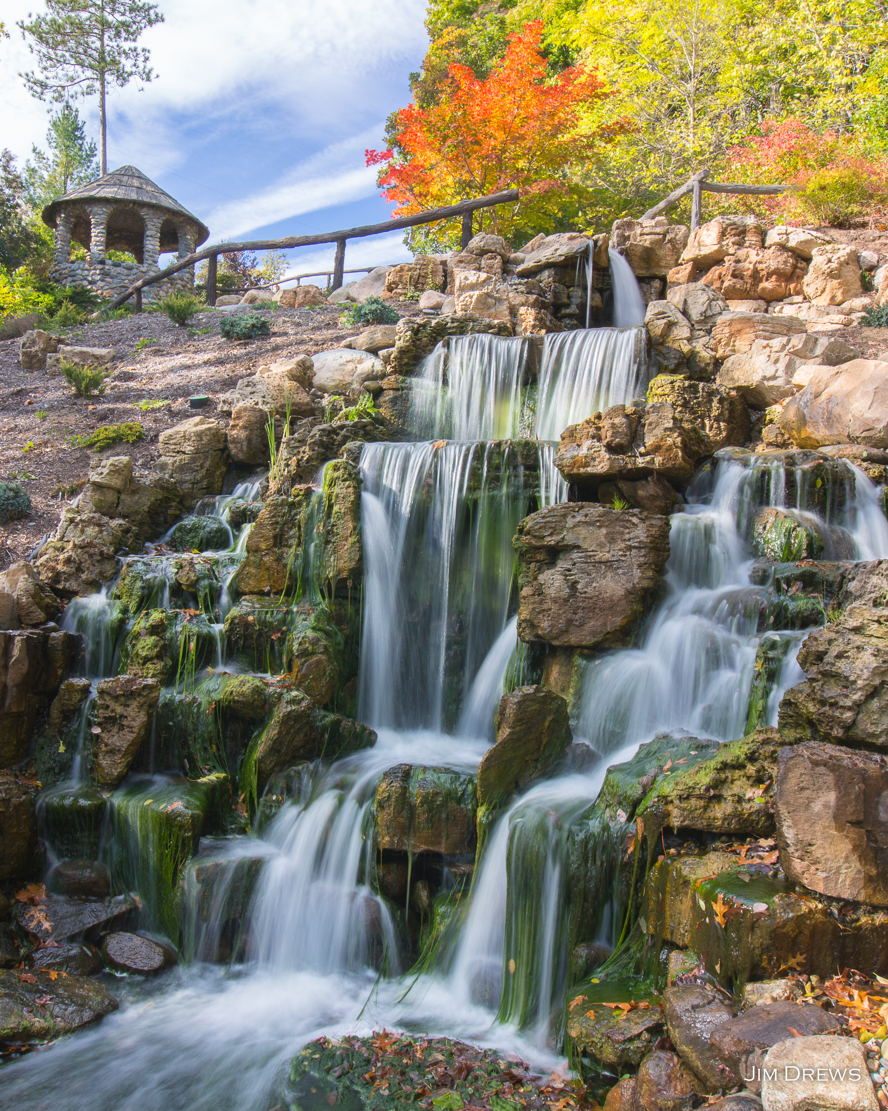 Hillsdale College Waterfall JPG Oct 12 2014 by Jim Drews for ZENFOLIO 0B4A4177