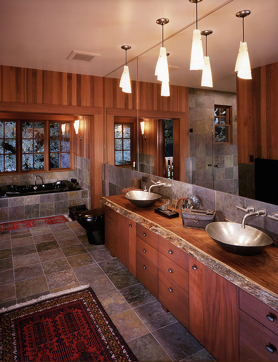 Rustic Modern Master Bathrooms