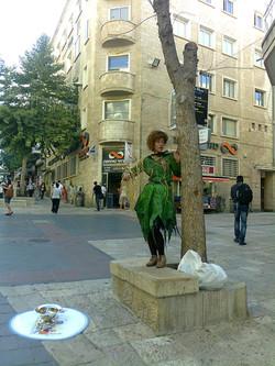 Lebende Statue in der Ben Jehuda