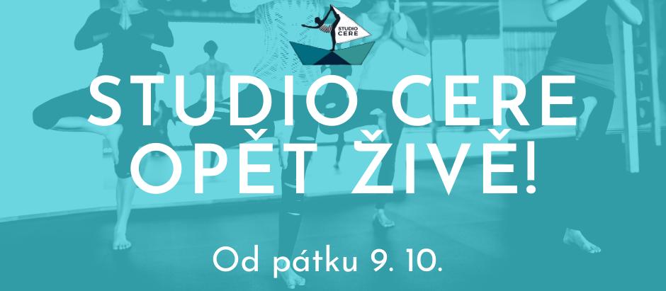 Studio CERE Online už od pátku 9.10.