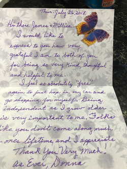 Thank you Letter to Nichols Auto Repair