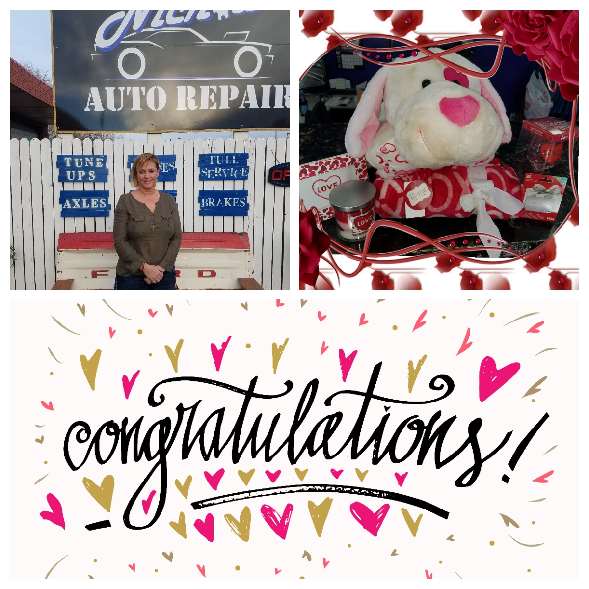 Auto Repair Shop Valentines Day Winner