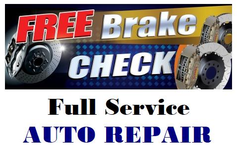 Free Brake Check Full Service Auto Repai