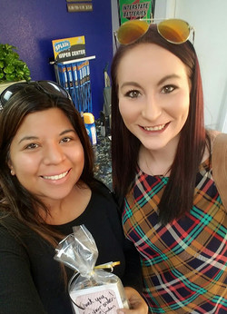 Jordan and Melissa in Lobby