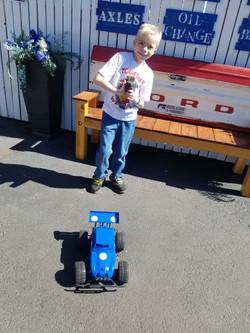 Miah with Nichols Race Car