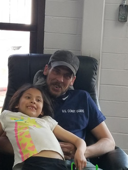 Father and Daughter in for Auto repair