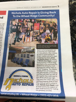 Nichols Auto Repair Wheat Ridge Arvada N