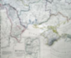 Юго-запад Украины (Россия в Европе). Старинная карта. 1835 г.