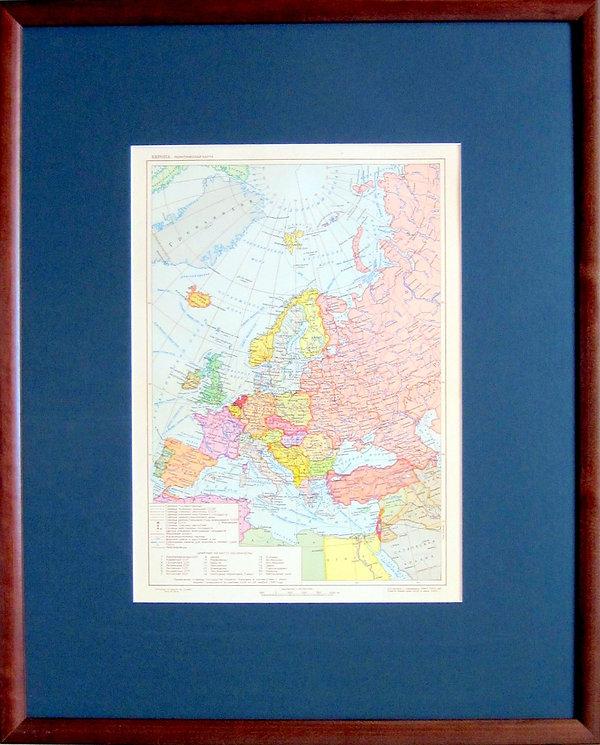 Европа. Политическая карта. 1952 г.
